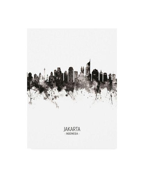 "Trademark Global Michael Tompsett Jakarta Skyline Indonesia Portrait II Canvas Art - 19.5"" x 26"""