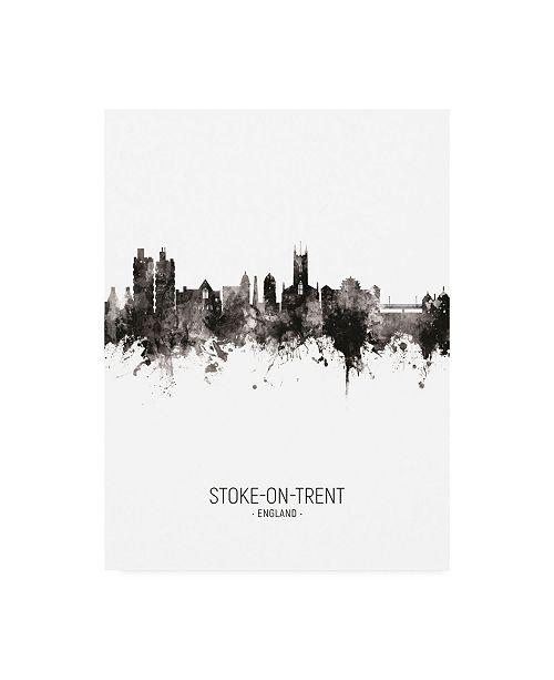 "Trademark Global Michael Tompsett Stoke-on-Trent England Skyline Portrait II Canvas Art - 36.5"" x 48"""