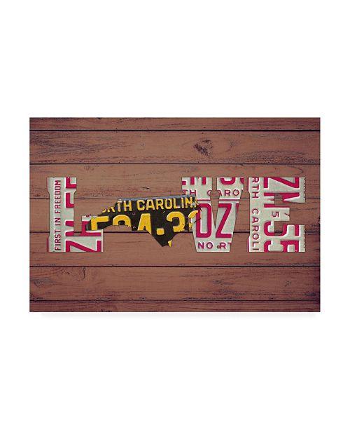 "Trademark Global Design Turnpike NC State Love Canvas Art - 19.5"" x 26"""