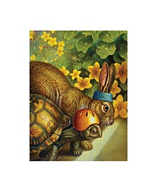 "Dan Craig Tortoise and Hare Canvas Art - 36.5"" x 48"""