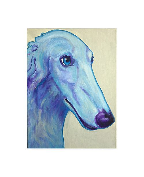 "Trademark Global DawgArt Baby Blue Borzoi Canvas Art - 19.5"" x 26"""