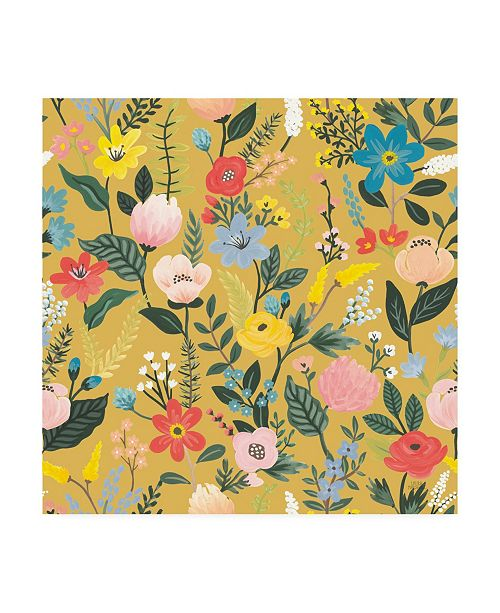 "Trademark Global Laura Marshall Wild Garden Pattern XIC Canvas Art - 36.5"" x 48"""