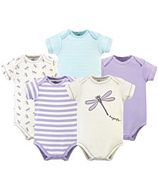 Organic Cotton Bodysuit, 5 Pack, Dragonfly, 12-18 Months