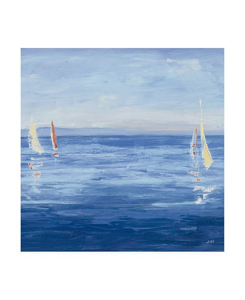 """Trademark Global Julia Purinton Open Sail with Red Crop Canvas Art - 36.5"""" x 48"""""""