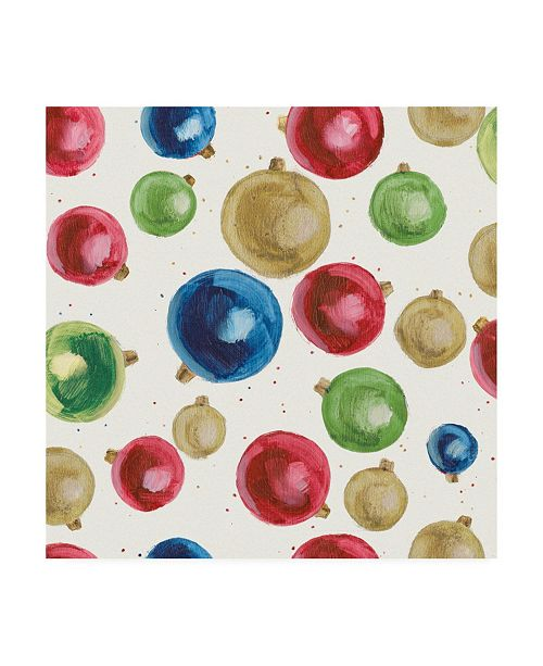 "Trademark Global Emily Adams Christmas Critters Bright Pattern IIB Canvas Art - 19.5"" x 26"""