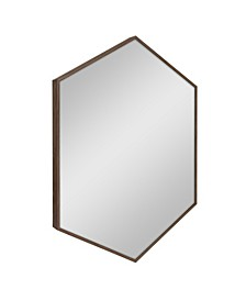 "Rhodes Framed Hexagon Wall Mirror - 22"" x 31"""
