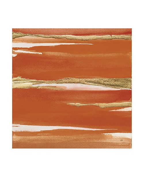 "Trademark Global Chris Paschke Gilded Mandarin I Burnt Orange Canvas Art - 15.5"" x 21"""