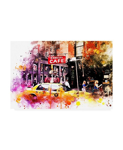 """Trademark Global Philippe Hugonnard NYC Watercolor Collection - in Soho Canvas Art - 27"""" x 33.5"""""""