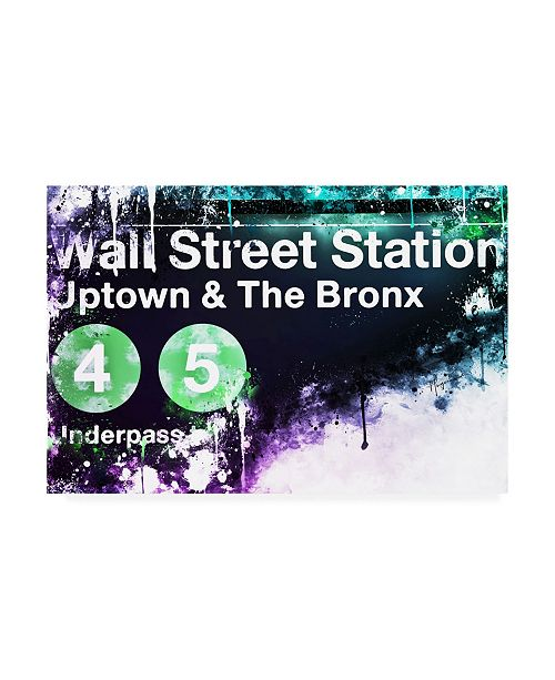 "Trademark Global Philippe Hugonnard NYC Watercolor Collection - Wall Street Station Canvas Art - 19.5"" x 26"""