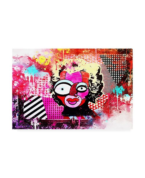 "Trademark Global Philippe Hugonnard NYC Watercolor Collection - Strange Maryline Canvas Art - 19.5"" x 26"""
