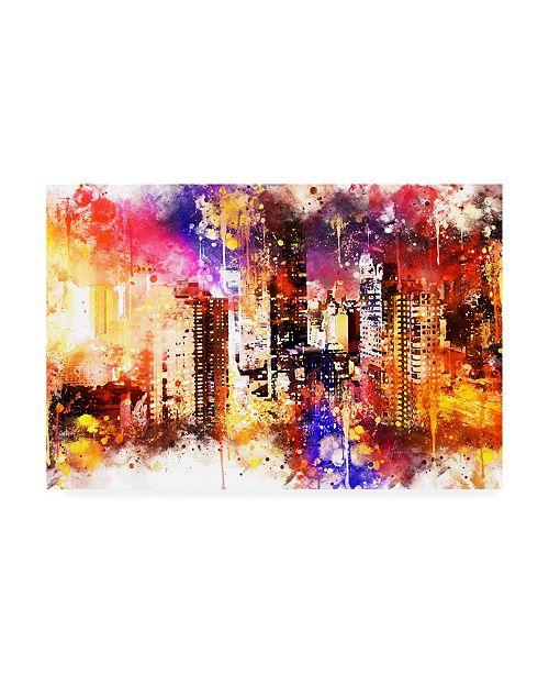 """Trademark Global Philippe Hugonnard NYC Watercolor Collection - Color Explosion Canvas Art - 19.5"""" x 26"""""""