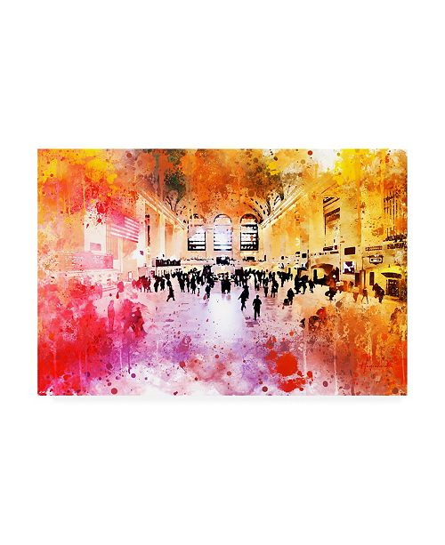 """Trademark Global Philippe Hugonnard NYC Watercolor Collection - Grand Central Station Canvas Art - 15.5"""" x 21"""""""