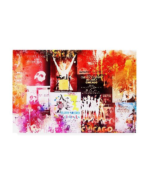 """Trademark Global Philippe Hugonnard NYC Watercolor Collection - Broadway Shows IV Canvas Art - 36.5"""" x 48"""""""