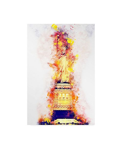 """Trademark Global Philippe Hugonnard NYC Watercolor Collection - Lady Liberty Canvas Art - 15.5"""" x 21"""""""