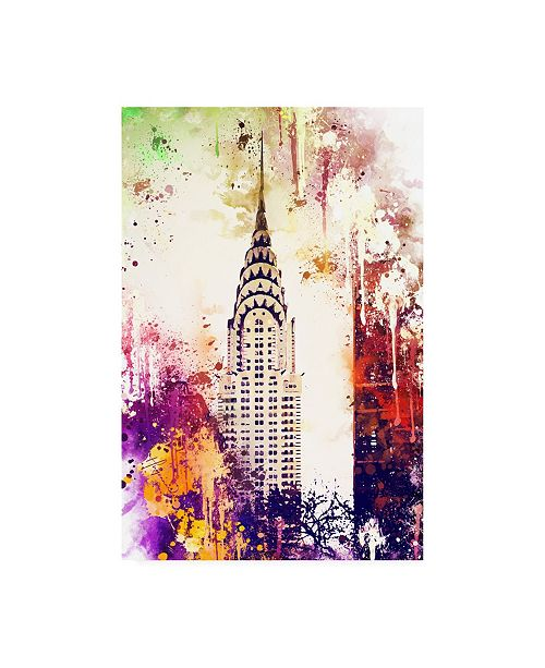 "Trademark Global Philippe Hugonnard NYC Watercolor Collection - Chrysler Building Canvas Art - 15.5"" x 21"""