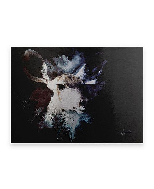 "Trademark Global Philippe Hugonnard Wild Explosion Collection - the Impala II Floating Brushed Aluminum Art - 21"" x 25"""