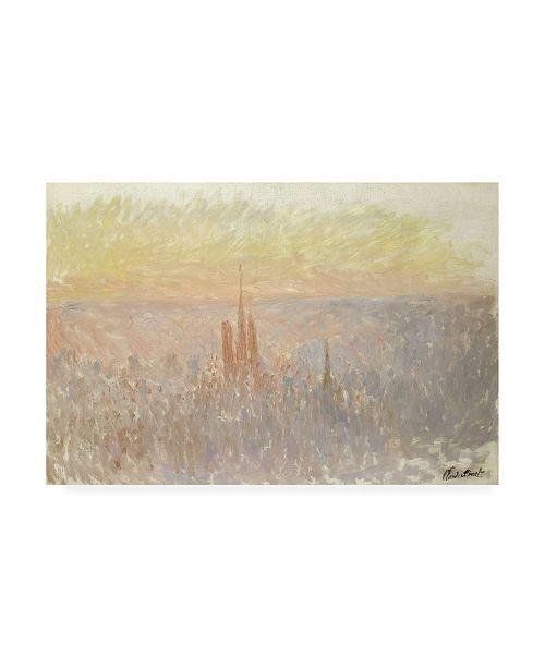 """Trademark Global Claude Monet View of Rouen, 1892 Canvas Art - 36.5"""" x 48"""""""