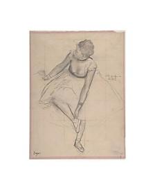 "Edgar Degas Dancer Adjusting Her Slipper, 1873 Canvas Art - 19.5"" x 26"""