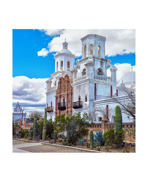"Trademark Global Mitch Catanzaro Mission San Xavier del Bac Arizona Canvas Art - 36.5"" x 48"""