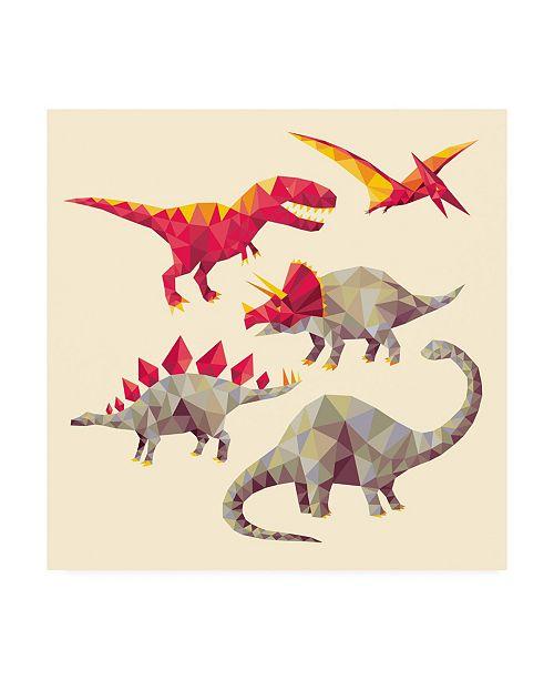"Trademark Global Michael Buxto Geo Saurs Canvas Art - 15.5"" x 21"""