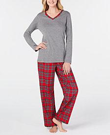 Charter Club Plaid Mix It Pajamas Set, Created for Macy's