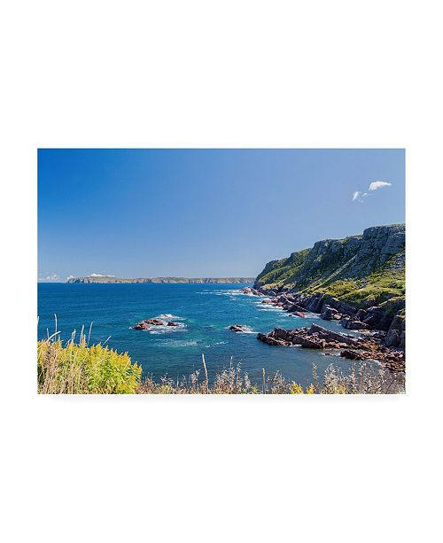 "Trademark Global Chuck Burdic Rocky Cove Coastline Canvas Art - 27"" x 33.5"""