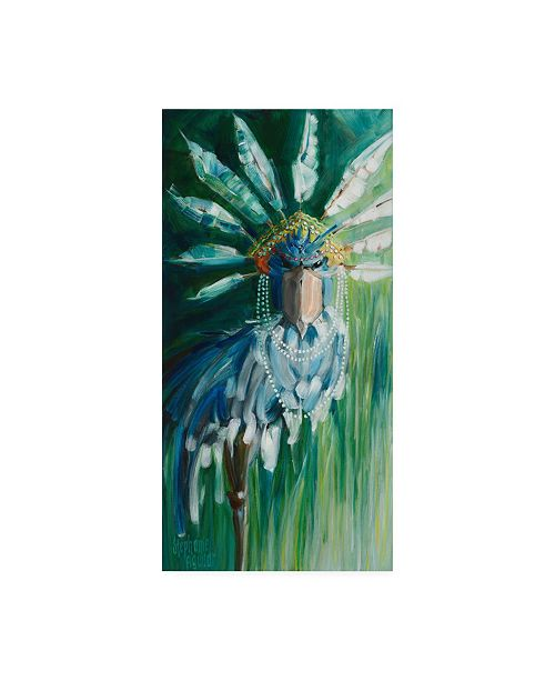 "Trademark Global Stephanie Aguila Stork with Feathered Crown Canvas Art - 27"" x 33.5"""