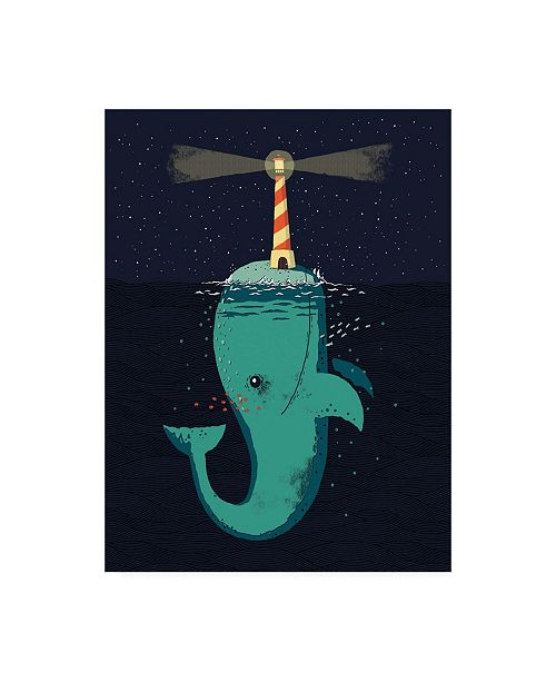 "Trademark Global Michael Buxto King of the Narwhals Canvas Art - 36.5"" x 48"""