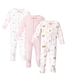 Zipper Sleep N Play, Unicorn, 3 Pack, 6-9 Months