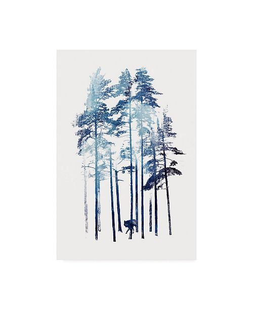 "Trademark Global Robert Farka Winter Wolf Watercolor Canvas Art - 36.5"" x 48"""