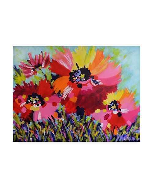 "Trademark Global Pamela Gaten Big Red Poppies Canvas Art - 19.5"" x 26"""