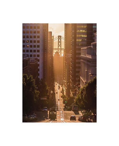 "Trademark Global Bruce Gett Morning Trolley 2 Canvas Art - 15.5"" x 21"""