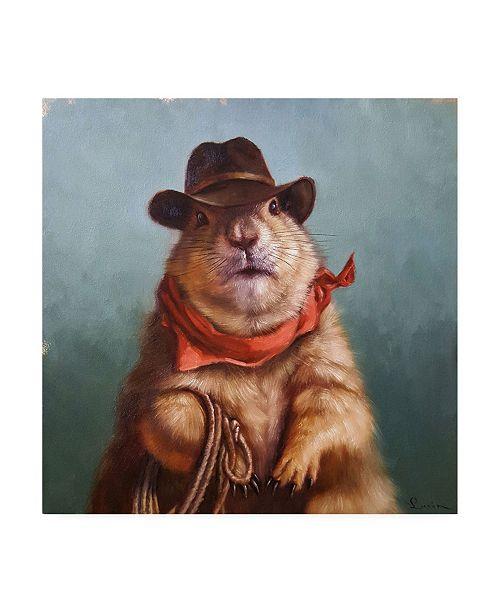 """Trademark Global Lucia Hefferna Underground Cowboy Canvas Art - 15.5"""" x 21"""""""