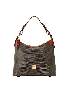 Lizard-Embossed Leather Hobo, Created for Macy's