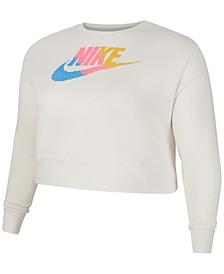 Plus Size Sportswear Fleece Crewneck Sweatshirt