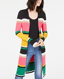 I.N.C. Horizontal-Stripe Completer Sweater, Created for Macy's