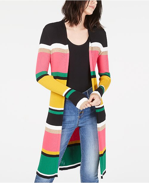 INC International Concepts I.N.C. Horizontal-Stripe Completer Sweater, Created for Macy's