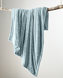CLOSEOUT! Crushed Velvet Throw, Created for Macy's