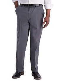 Haggar Men's Premium Classic-Fit Performance Stretch Non-Iron Flat-Front Dress Pants