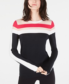 I.N.C. Illusion-Stripe Sweater, Created for Macy's