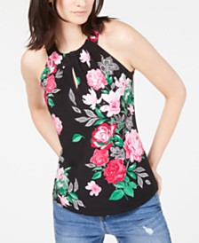 I.N.C. Petite Keyhole Halter Top, Created for Macy's