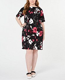 Plus Size Floral-Print Sheath Dress, Created for Macy's