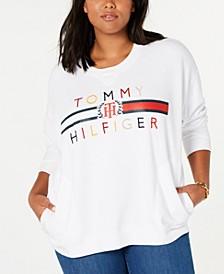 Plus Size Embroidered Oversized Sweatshirt
