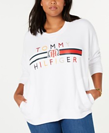 Tommy Hilfiger Plus Size Embroidered Oversized Sweatshirt