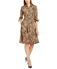 Animal-Print Shirtdress