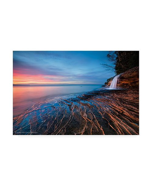 "Trademark Global John Fan Symphony of Sunset Canvas Art - 20"" x 25"""