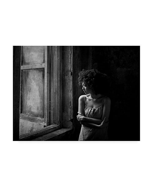 "Trademark Global Yoga Aris Pirdaus Alone in the Window Canvas Art - 20"" x 25"""