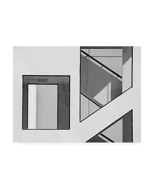 "Trademark Global Jacqueline Hammer Stairwell Geometry Canvas Art - 20"" x 25"""