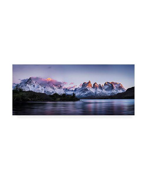 """Trademark Global Ignacio Palacios Cuernos Del Paine Pano Canvas Art - 37"""" x 49"""""""