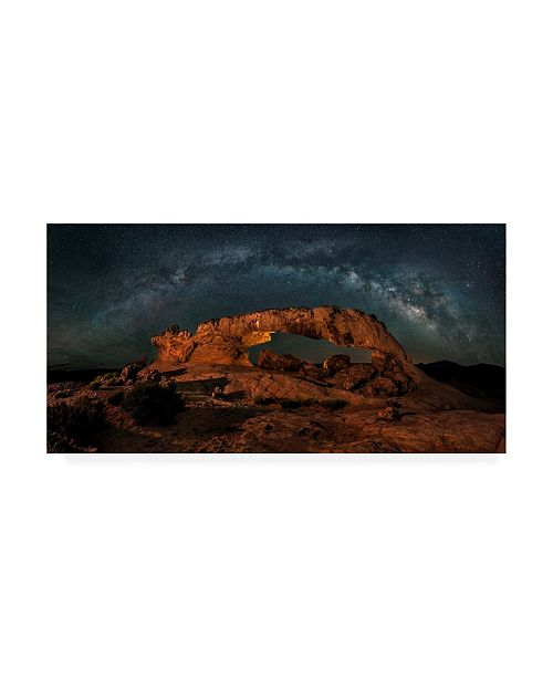 "Trademark Global Hua Zhu Milky Way Over the Sunset Arch Canvas Art - 37"" x 49"""